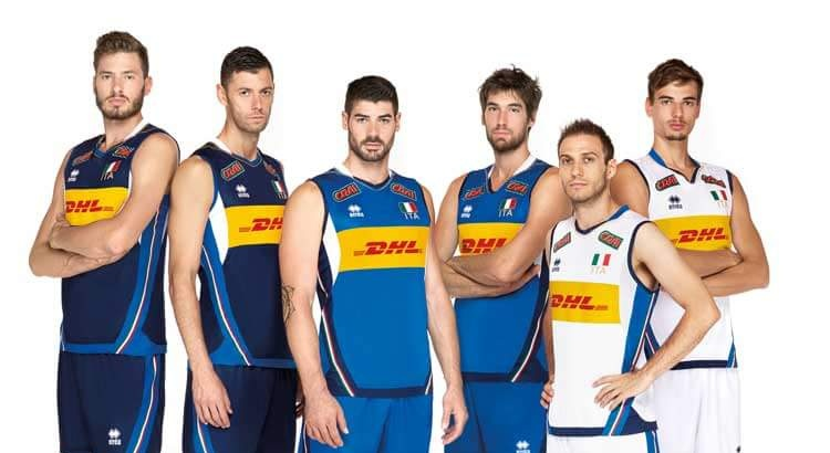Italvolley divise nazionale Dhl