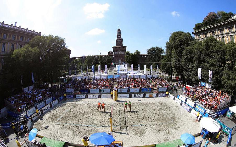Beach volley Castello Sforzesco