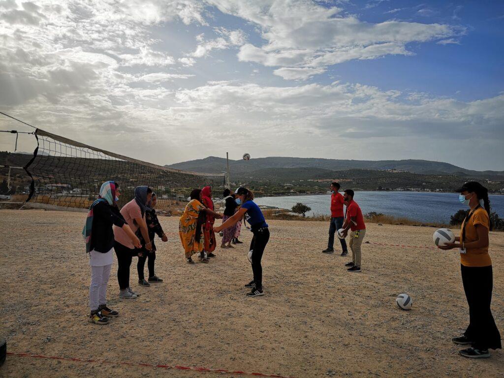 Pallavolo profughi Grecia